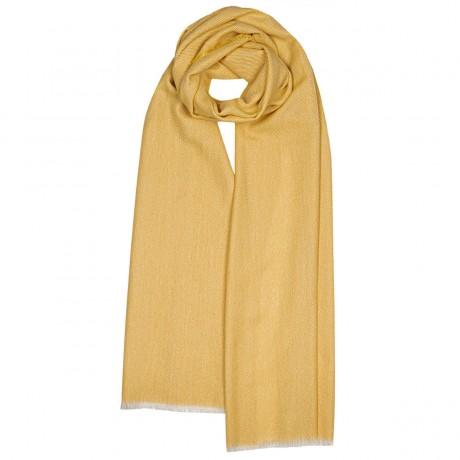 Catrine Gold Stardust Luxury Cashmere Scarf