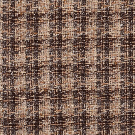 Gold Check Sparkle Tweed Fabric