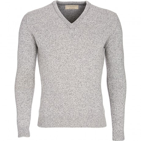 Fitted Mens Lambswool V-Neck Jumper