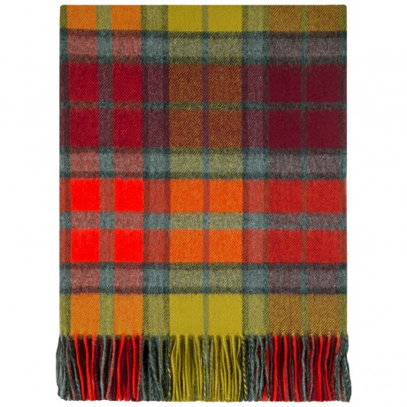 Buchanan Berry Tartan Lambswool Blanket