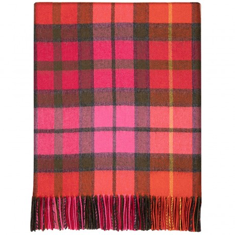 Buchanan Rose Tartan Lambswool Blanket