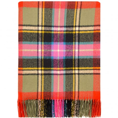 Bruce of Kinnaird Ancient Tartan Lambswool Blanket