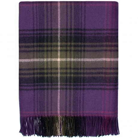 Lochcarron Heather Tartan Lambswool Blanket