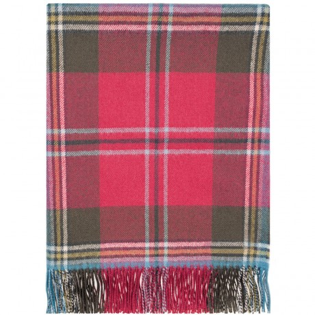 MacLean of Duart Weathered Tartan Lambswool Blanket