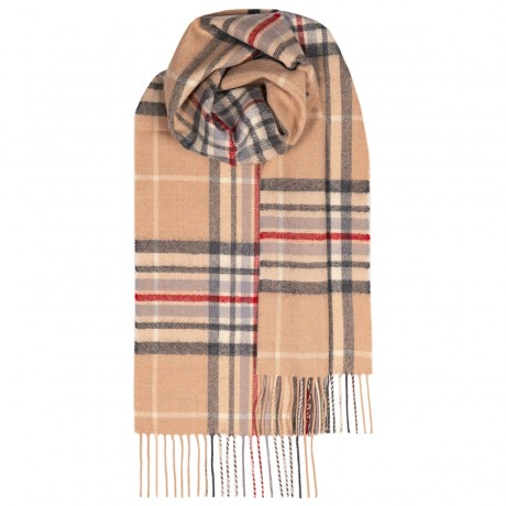 Bowhill Camel Yarrow Lambswool Scarf