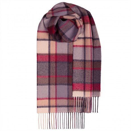 Bowhill Old Town Mulberry Lambswool Scarf