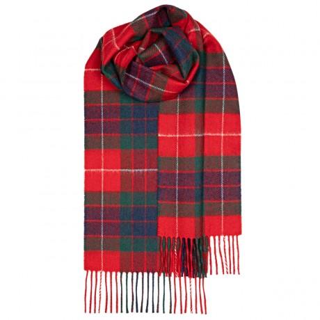 Fraser Red Modern Tartan Lambswool Scarf