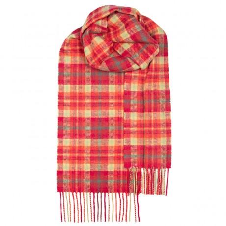 Highland Rose Tartan Lambswool Scarf