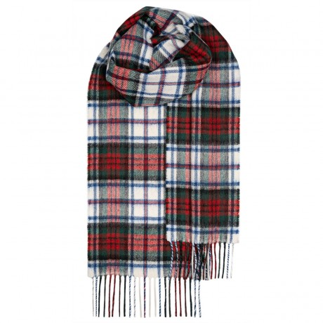 MacDuff Dress Modern Tartan Lambswool Scarf