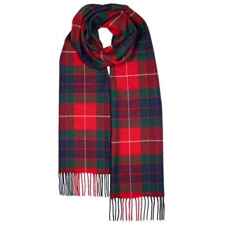 Darwin Fraser Red Modern Luxury Oversized Lambswool Scarf