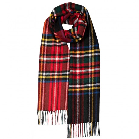 Darwin Black/Royal Stewart Luxury Oversized Lambswool Scarf