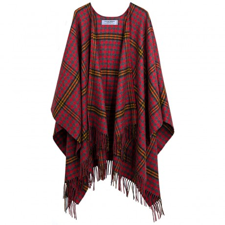 Red Red Rose Tartan Lambswool Serape