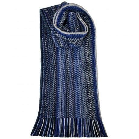 Midnight FaithWool/Angora Knitted Scarf