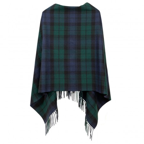 Georgia Black Watch Modern Lambswool Poncho