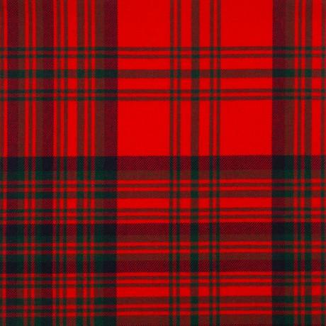 Matheson Red Modern Medium Weight Tartan Fabric