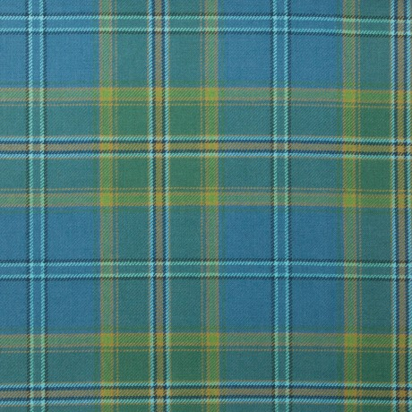 All Ireland Blue Irish Light Weight Tartan Fabric