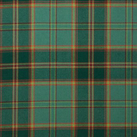 All Ireland Green Irish Light Weight Tartan Fabric