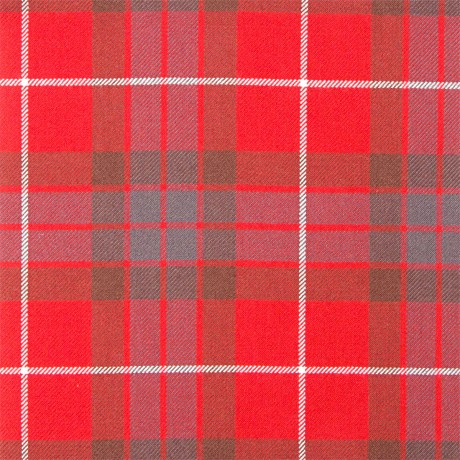 Fraser Red Weathered Heavy Weight Tartan Fabric