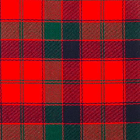 Robertson Red Modern Heavy Weight Tartan Fabric