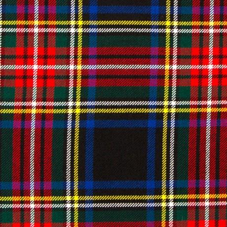 Stewart Black Modern Heavy Weight Tartan Fabric