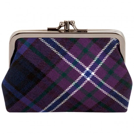 Scotland Forever Modern Tartan Double Medium Purse
