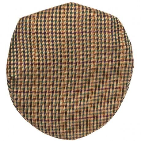 Ednam Estate Check Tweed Barnton Flat Cap