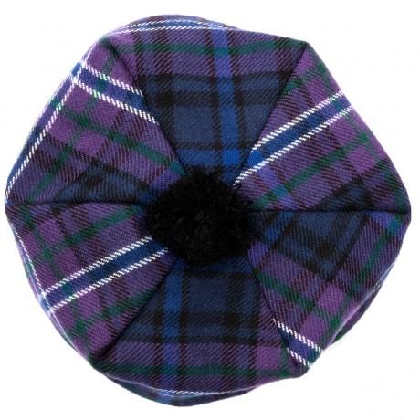 Scotland Forever Modern Tartan Brushed Wool Tam