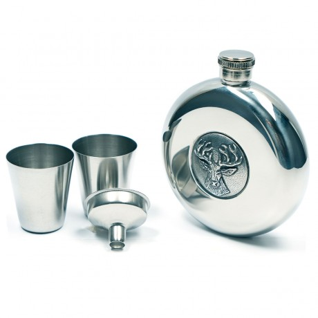 Hip Flask with Stag Design