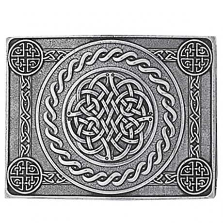 Celtic Knot 4 Dome Buckle  in Pewter & Belt