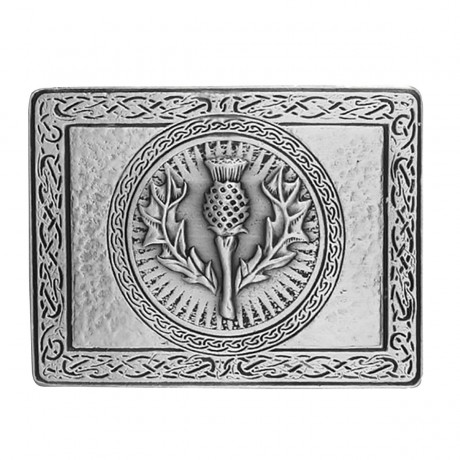Thistle Buckle in Pewter & Belt