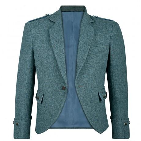 Fishermans Blue Shetland Tweed Argyll Kilt Jacket