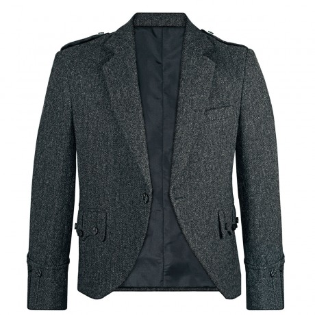 Porters Grey Shetland Tweed Argyll Kilt Jacket