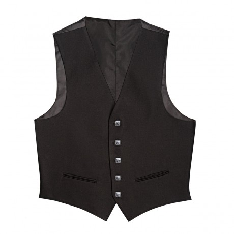 Barathea Heavyweight Fabric 5 Button Kilt Waistcoat
