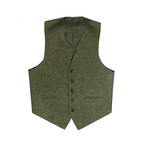 Beaters Grey Shetland Tweed 5 Button Kilt Waistcoat