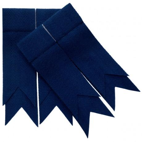 Navy Blue Plain Coloured Garter Flashes