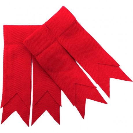 Scarlet Red Plain Coloured Garter Flashes