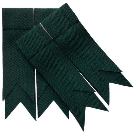 Bottle Green Plain Coloured Garter Flashes