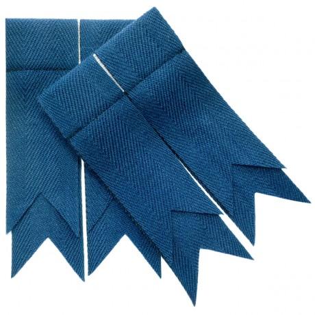 Blue Ancient Plain Coloured Garter Flashes