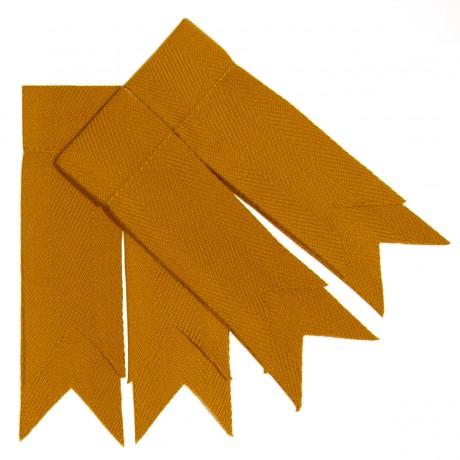 Gold Plain Coloured Garter Flashes