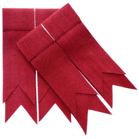 Red Weathered Plain Coloured Garter Flashes