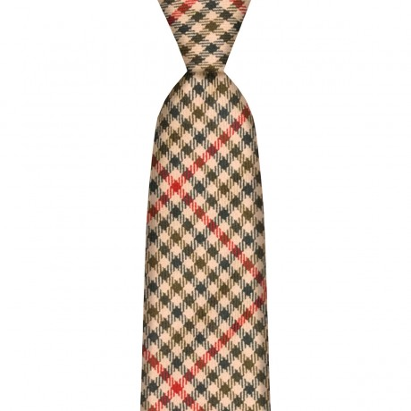 St Abbs Estate Check Wool Tie