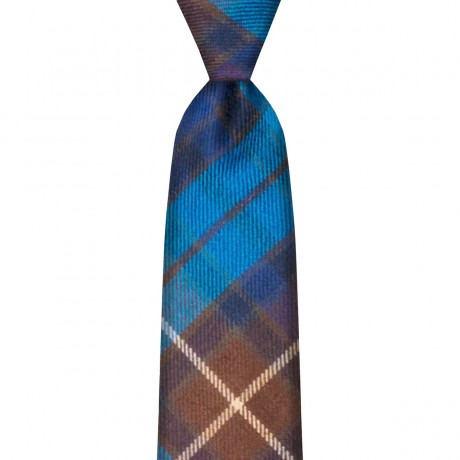 Buchanan Blue Modern Tartan Tie
