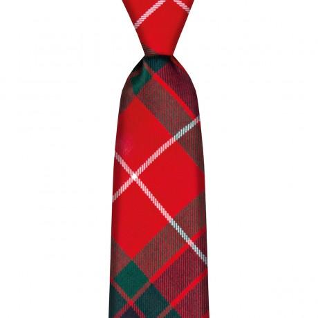 Fraser Red Modern Tartan Tie