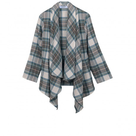 Stewart Dress Blue Tartan Lambswool Kerry Jacket