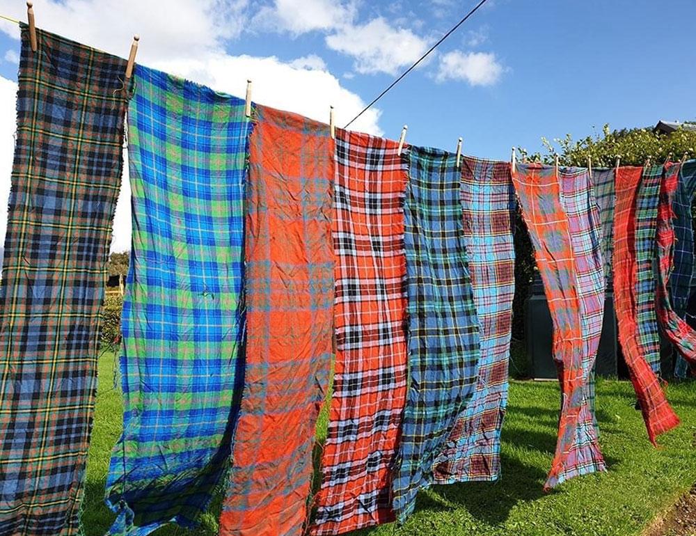 Re-used old fabrics