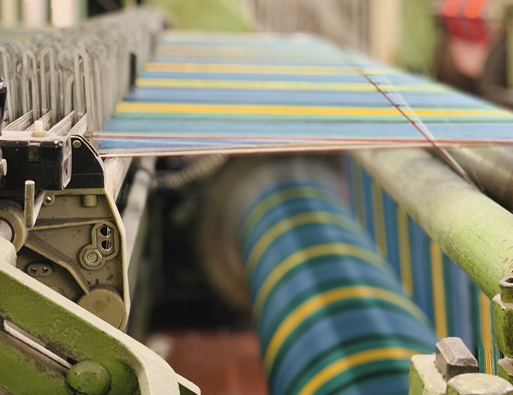 Weaving Fabric At Lochcarron of Scotlands Mill