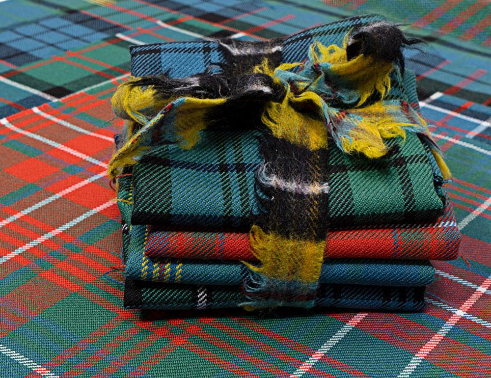Lochcarron repurposed craft bundles