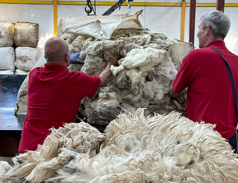 Wool Sorting centre in Galashiels in Scottish Borders